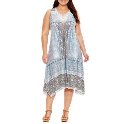 Unity World Wear Sleeveless Beaded Maxi Dress-Plus