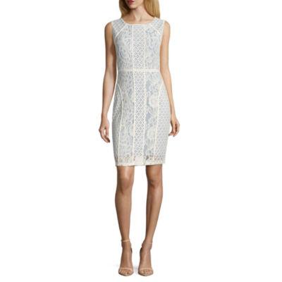 Melrose Sleeveless Sheath Dress-Petites