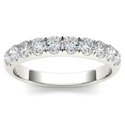 Womens 3/4 CT. T.W. White Diamond 14K Gold Wedding Band