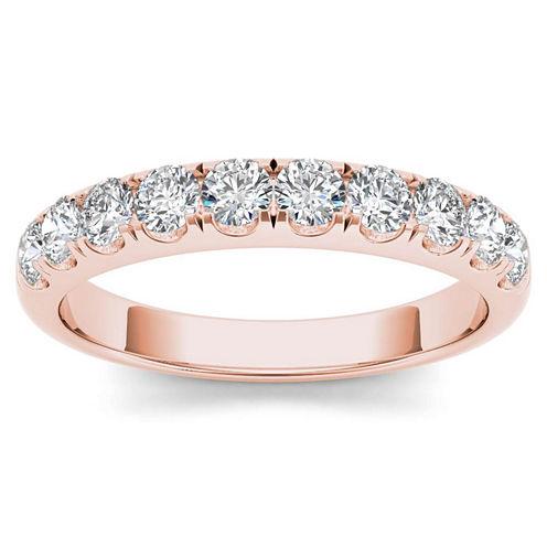Womens 3/4 CT. T.W. Genuine White Diamond 14K Gold Wedding Band