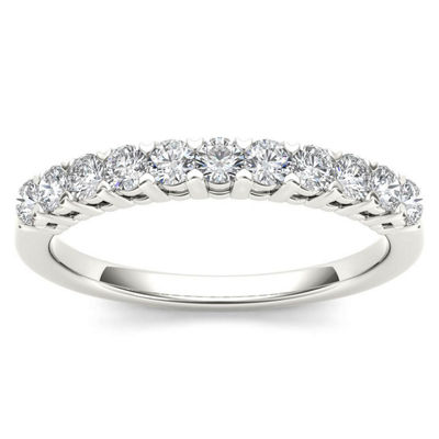 Womens 3/8 CT. T.W. White Diamond 10K Gold Wedding Band