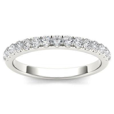 Womens 1/3 CT. T.W. White Diamond 10K Gold Wedding Band