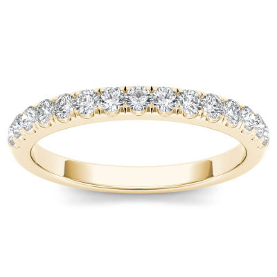 Womens 1/3 CT. T.W. Genuine White Diamond 10K Gold Wedding Band