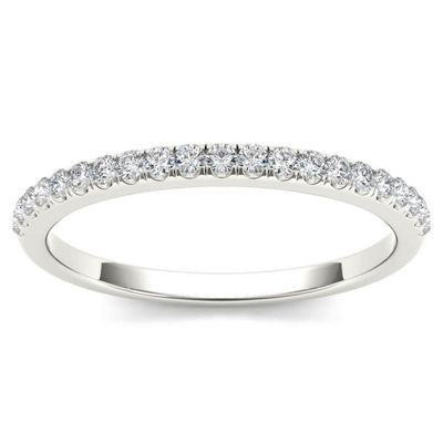 Womens 1/6 CT. T.W. White Diamond 10K Gold Wedding Band