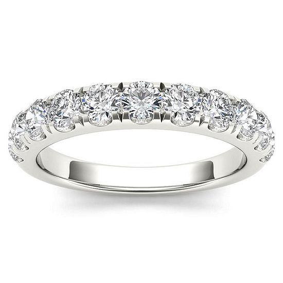 Womens 2 Mm 1 CT. T.W. Genuine White Diamond 14K Gold Wedding Band