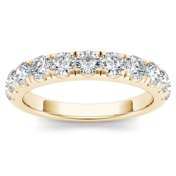 Womens 1 CT. T.W. Genuine White Diamond 14K Gold Wedding Band