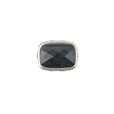 Artsmith By Barse Womens Genuine Blue Rectangular Cocktail Ring