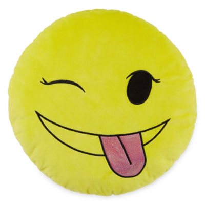 Total Girl Wink Emoji Pillow