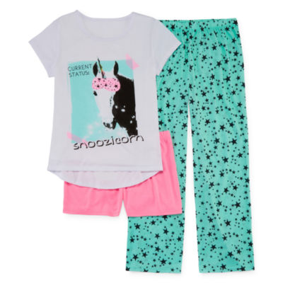 Total Girl 3-pc. Pajama Set Girls - JCPenney