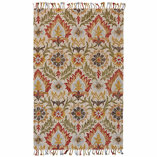 Weave And Wander Calendra Barre Hand Tufted Rectangular Indoor Rugs