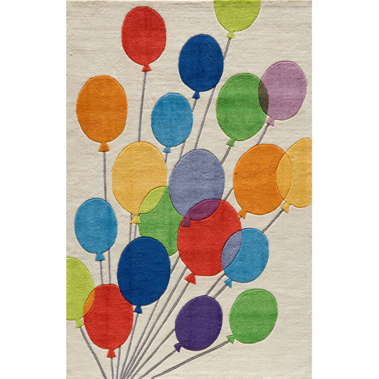 Momeni Lil Mo Multi Balloons Hand Tufted Rectangular Rugs