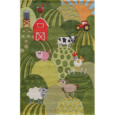 Momeni Lil Mo Farm Land Hand Tufted Rectangular Rugs