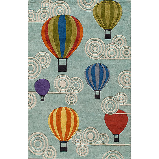 Momeni Lil Mo Hot Air Balloons Hand Tufted Rectangular & Round Rugs