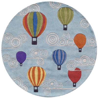 Momeni Lil Mo Hot Air Balloons Hand Tufted Round Rugs