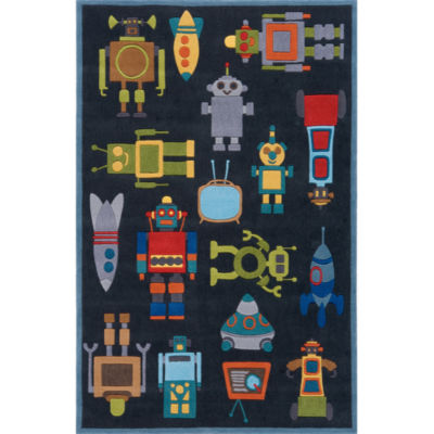 Momeni Lil Mo Robots Hand Tufted Rectangular Rugs