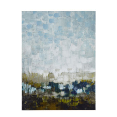 Madison Park Signature Abstract Land Gel Coated Canvas Art