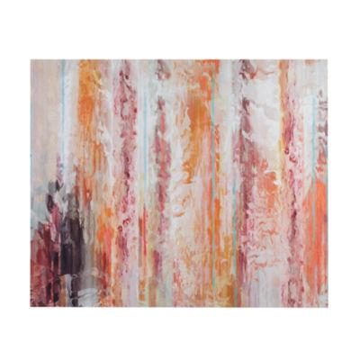 Urban Habitat Passion Coral Canvas Art
