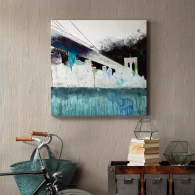 INK + IVY Abstract City Canvas Art
