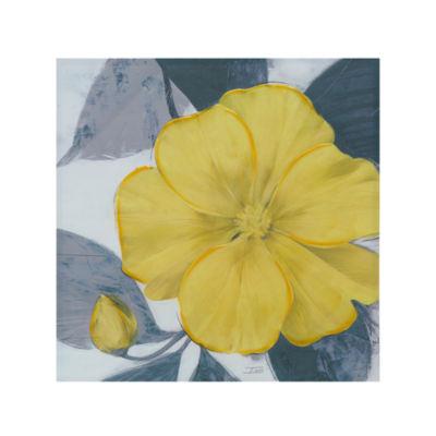 Madison Park Yellow Bloom Canvas Art