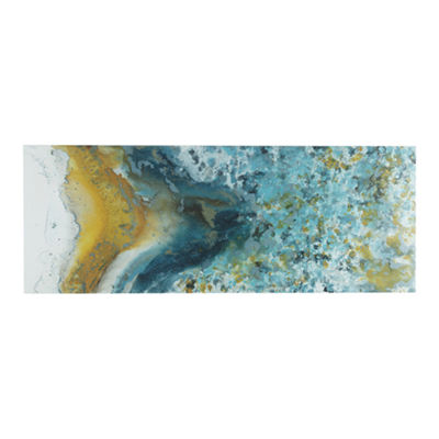 INK + IVY Shattering Rock Yellow Canvas Art
