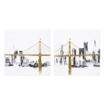 INK + IVY Bridge and Skyline 2-pc. Canvas Art