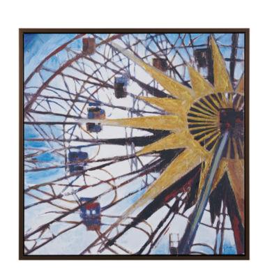 Madison Park Signature Carnival Ferris Wheel HandEmbellished Canvas Art