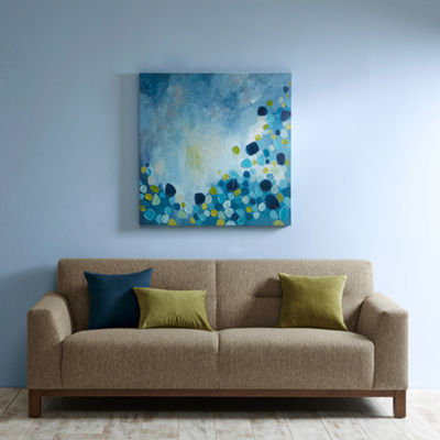 INK + IVY Cool Blue Bounce Canvas Art