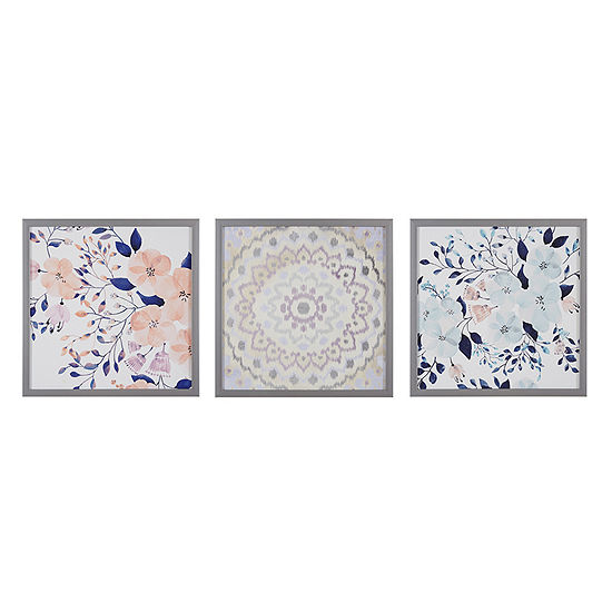 Intelligent Design Summer Bliss 3 Pc Canvas Art
