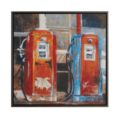 INK + IVY Gas Pumps Canvas Art