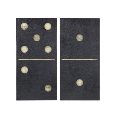 INK + IVY Two Black Dominos 2-pc. Canvas Art