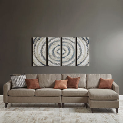 INK + IVY Grey Bonbon 4-pc. Canvas Art