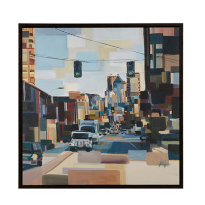 Madison Park Urban Street at High Noon Canvas Art