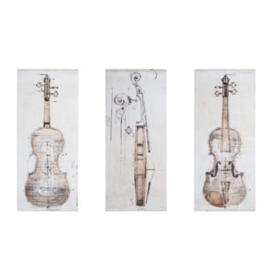 Madison Park Violin Study 3-pc. Canvas Art