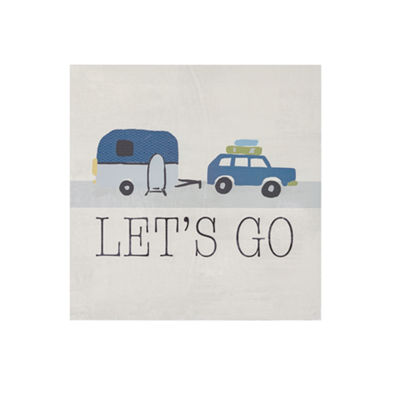 INK + IVY Let's Go Printed MDF Box Wall Art
