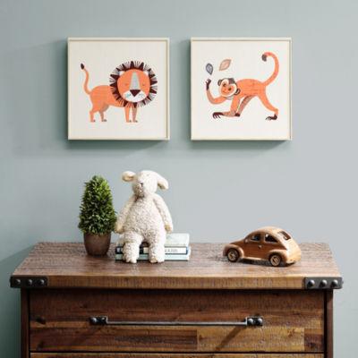 INK+IVY 2-pc. Lion & Monkey Canvas Art
