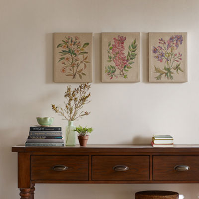 Madison Park Linen Botanicals 3-pc. Canvas Art