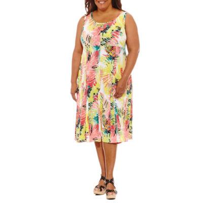 Lark Lane Braziliant Sleeveless Sheath Dress-Plus