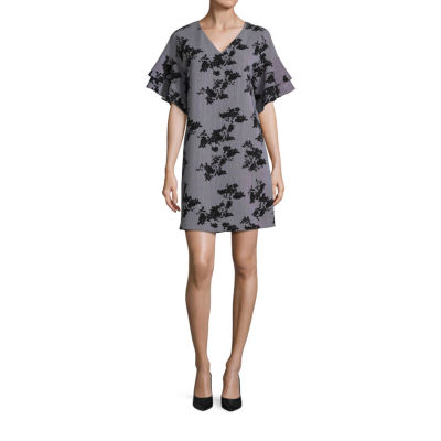 Worthington Tiered Ruffle Sleeve Dress - Tall