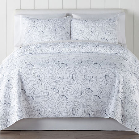 JCPenney Home Oceana Quilt, One Size , White