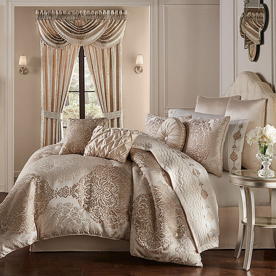 Queen Street Kennedy 6-pc. Damask + Scroll Comforter Set