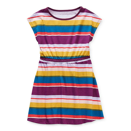 Thereabouts Little & Big Girls Short Sleeve A-Line Dress