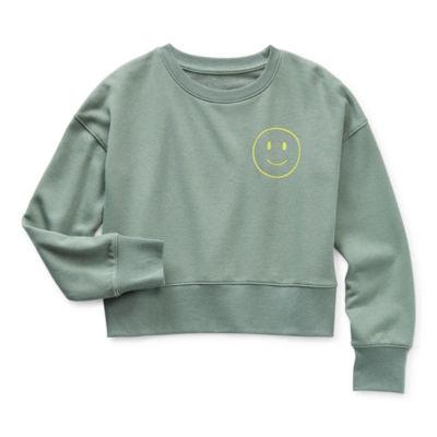 Thereabouts Little & Big Girls Crew Neck Long Sleeve Sweatshirt