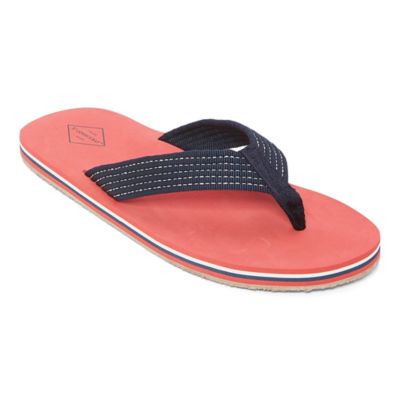St. John's Bay Mens Stitch Strap Flip-Flops