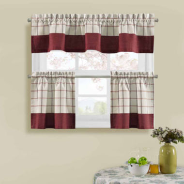 Bistro Check Kitchen Curtains