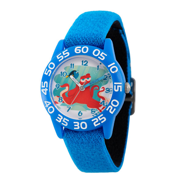 Disney Collection Boys Blue Numbered Bezel Finding Dory Strap Watch