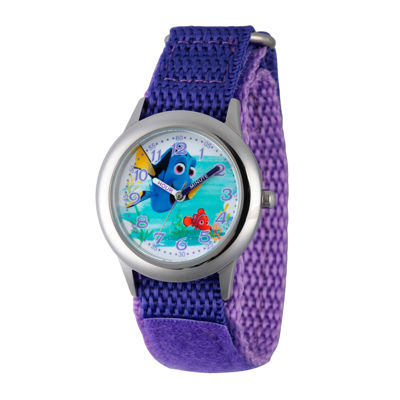 Disney Collection Girls Purple & Silver-Tone Finding Dory Strap Watch