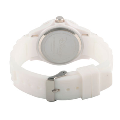 Disney® Womens Minnie Mouse White Dots Strap Watch