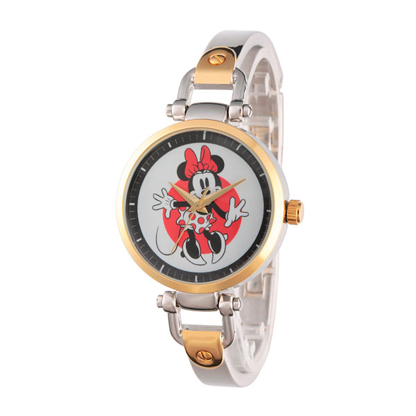 Disney® Womens Minnie Mouse Two Tone Bridle Bracelet Watch