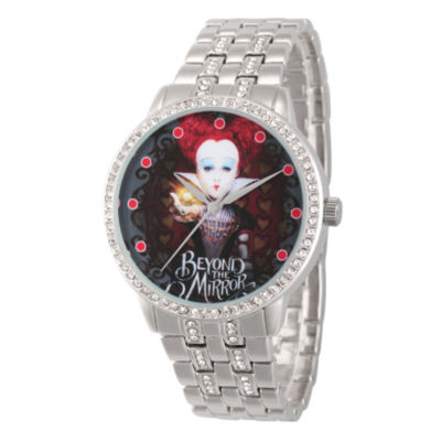 Disney® Womens Alice In Wonderland Silver Tone Red Queen Bracelet Watch