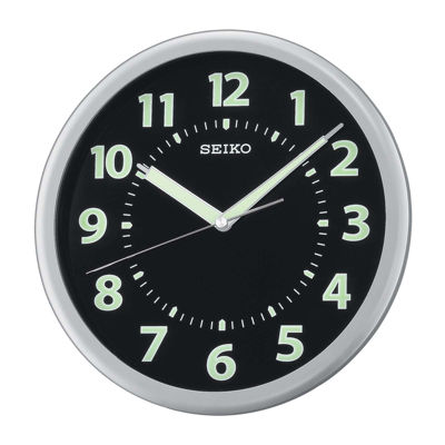 Seiko® Wall Clock With Luminous Numerals Hands And Markers Qxa435slh